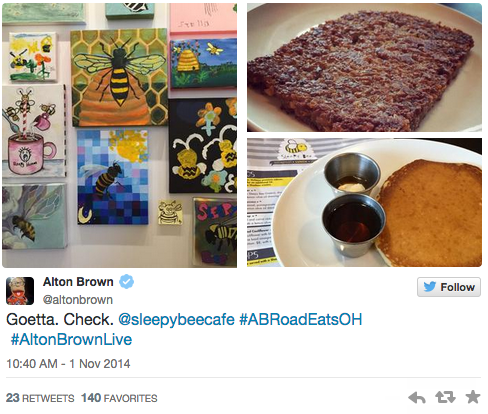 Alton Brown buzzes about Sleepy Bee!